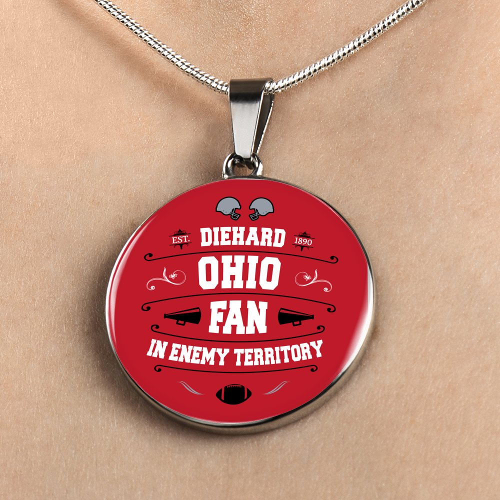 Ohio Fan Necklace