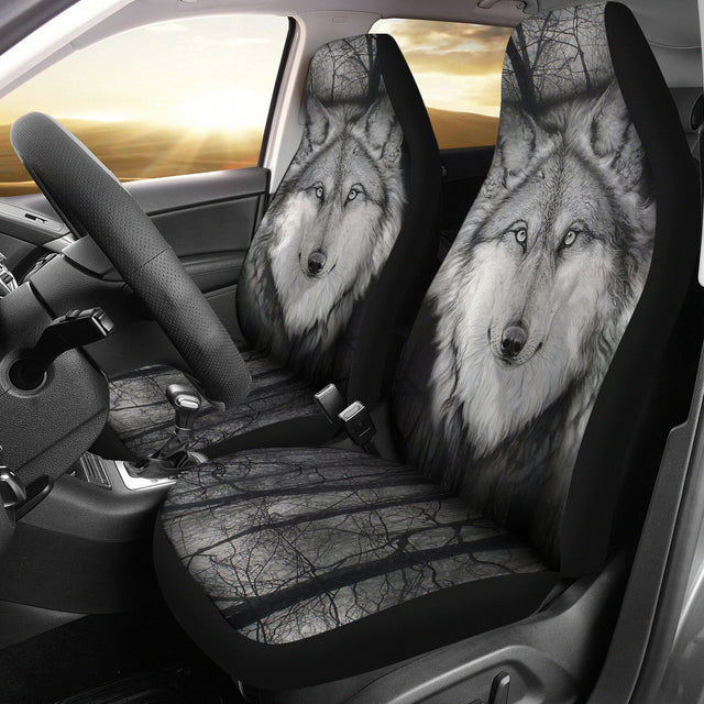 WOLF CAR SEAT COVERS EYE-NIGHT