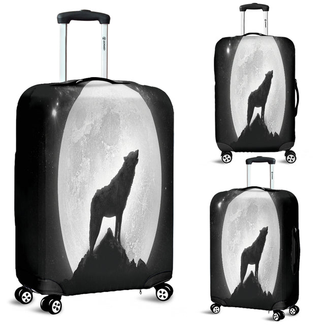Wolf Howling Luggage Cover
