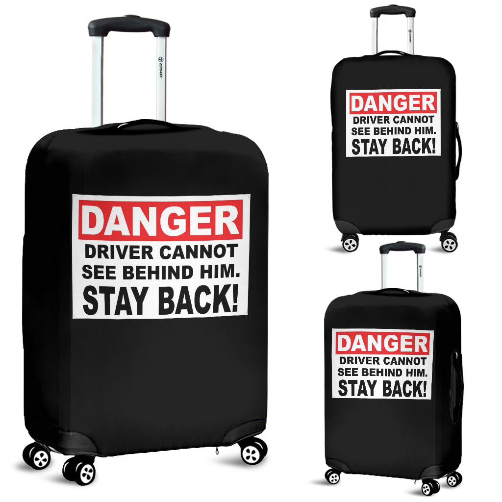 Danger Luggage Cover