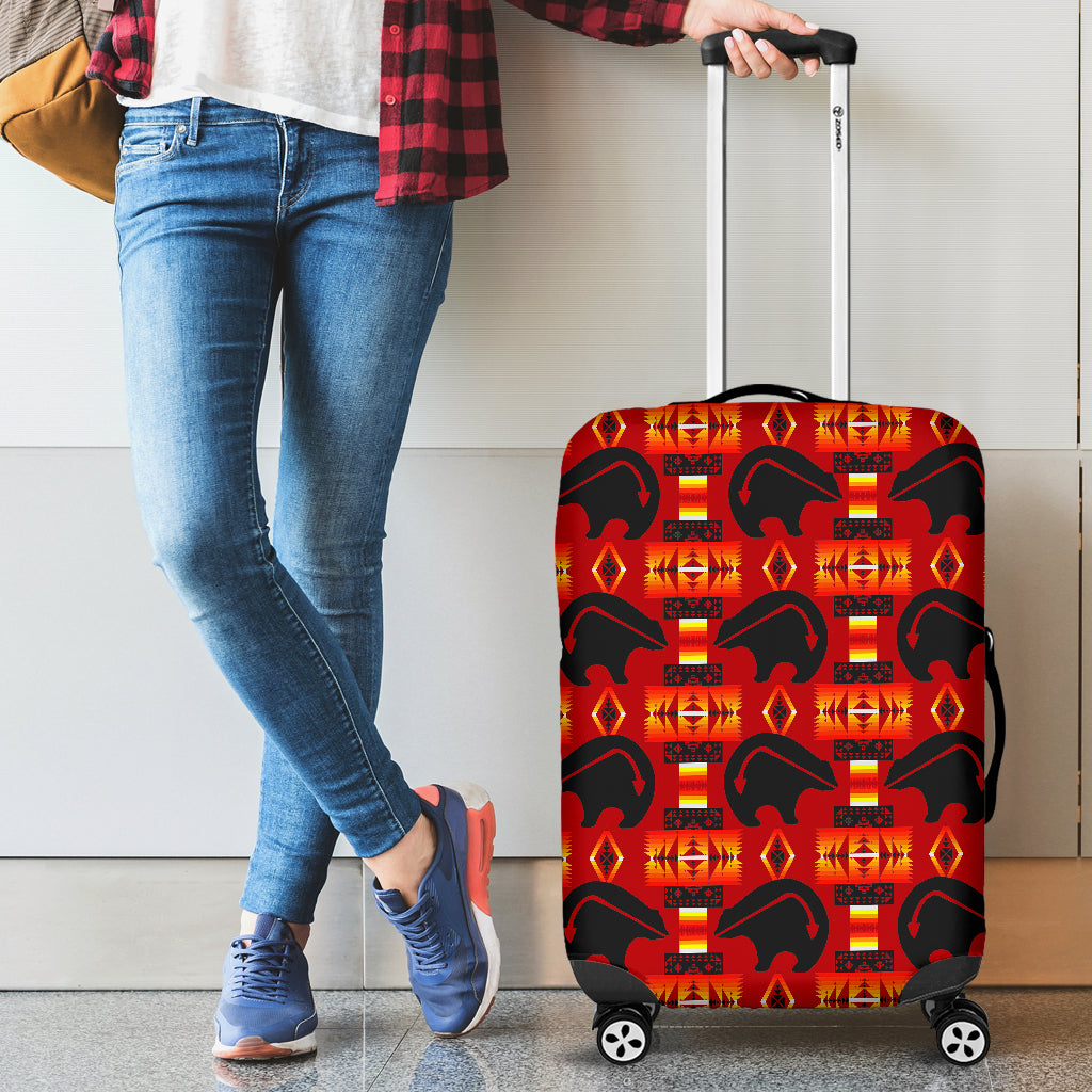 Thunderbear Red Luggage Cover