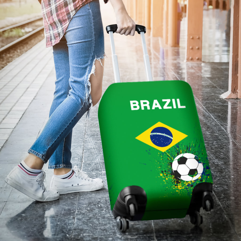 Brazil Soccer Luggage Cover