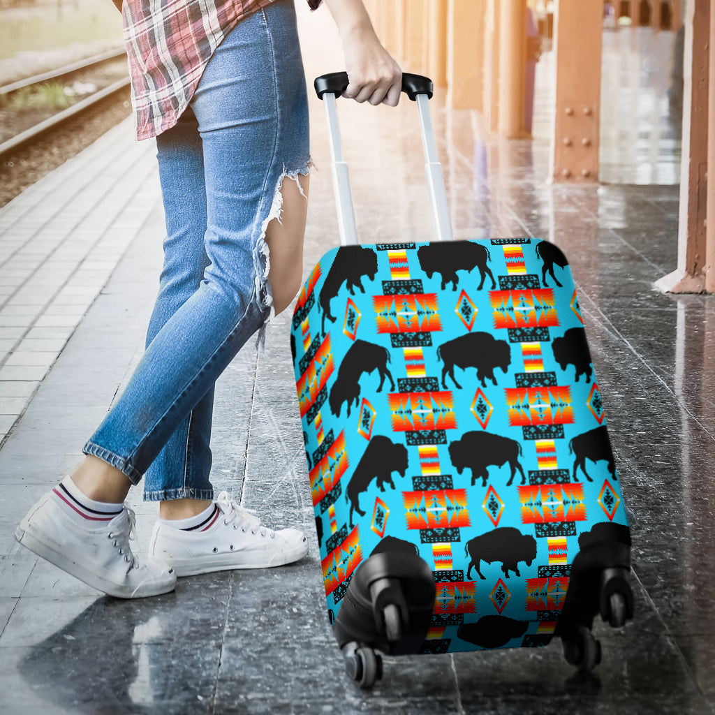Turquoise Buffalo Luggage Cover