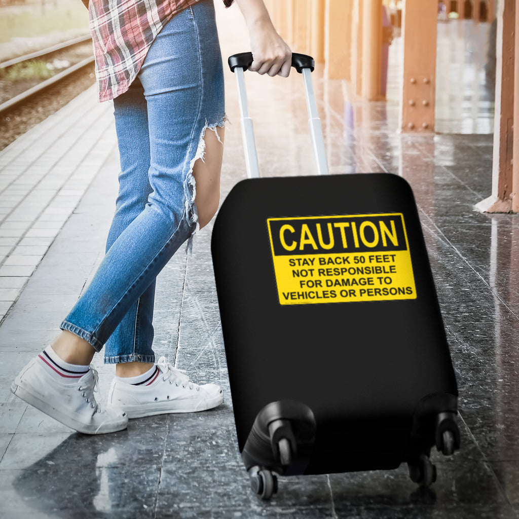 Caution Luggage Cover