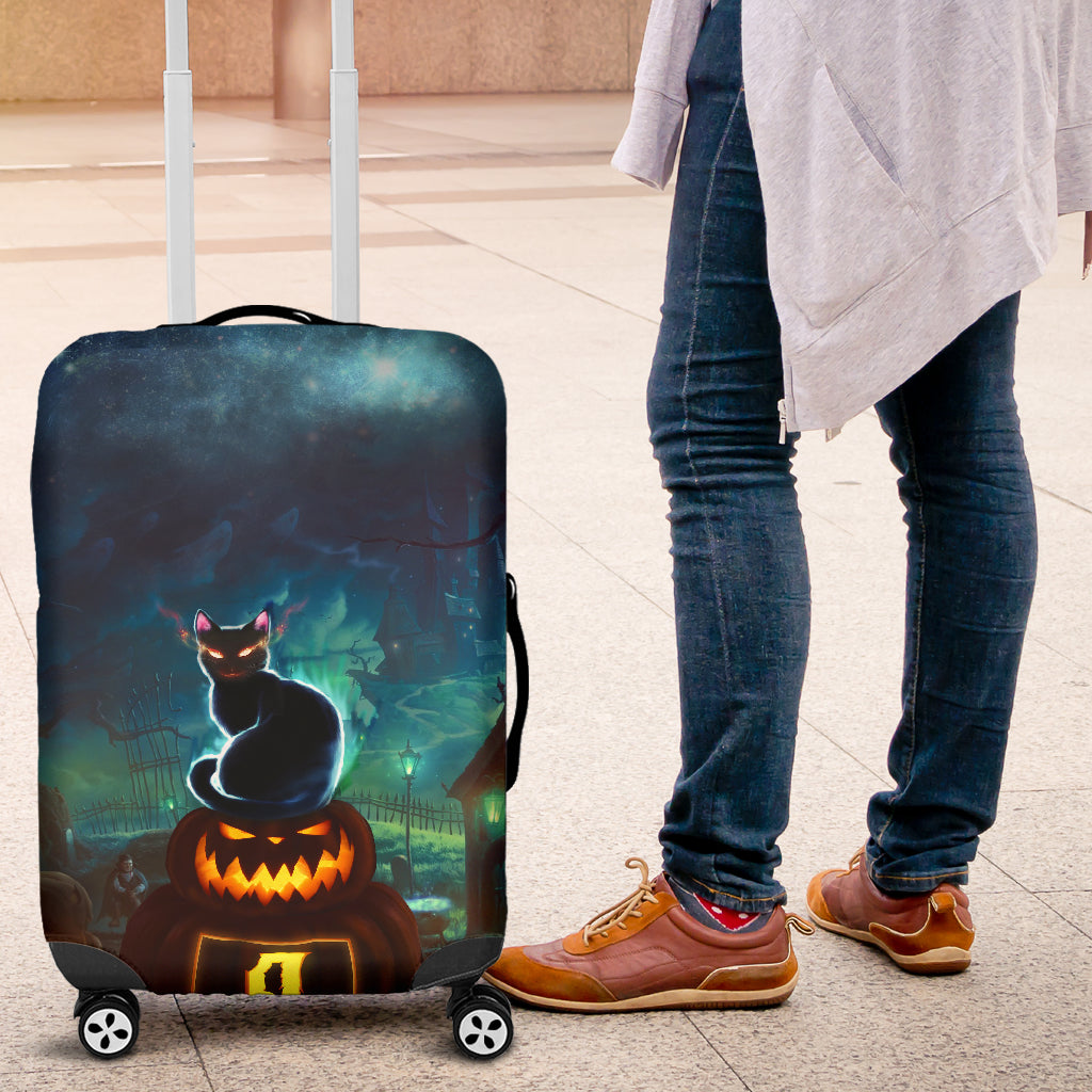 NP Halloween Luggage Cover