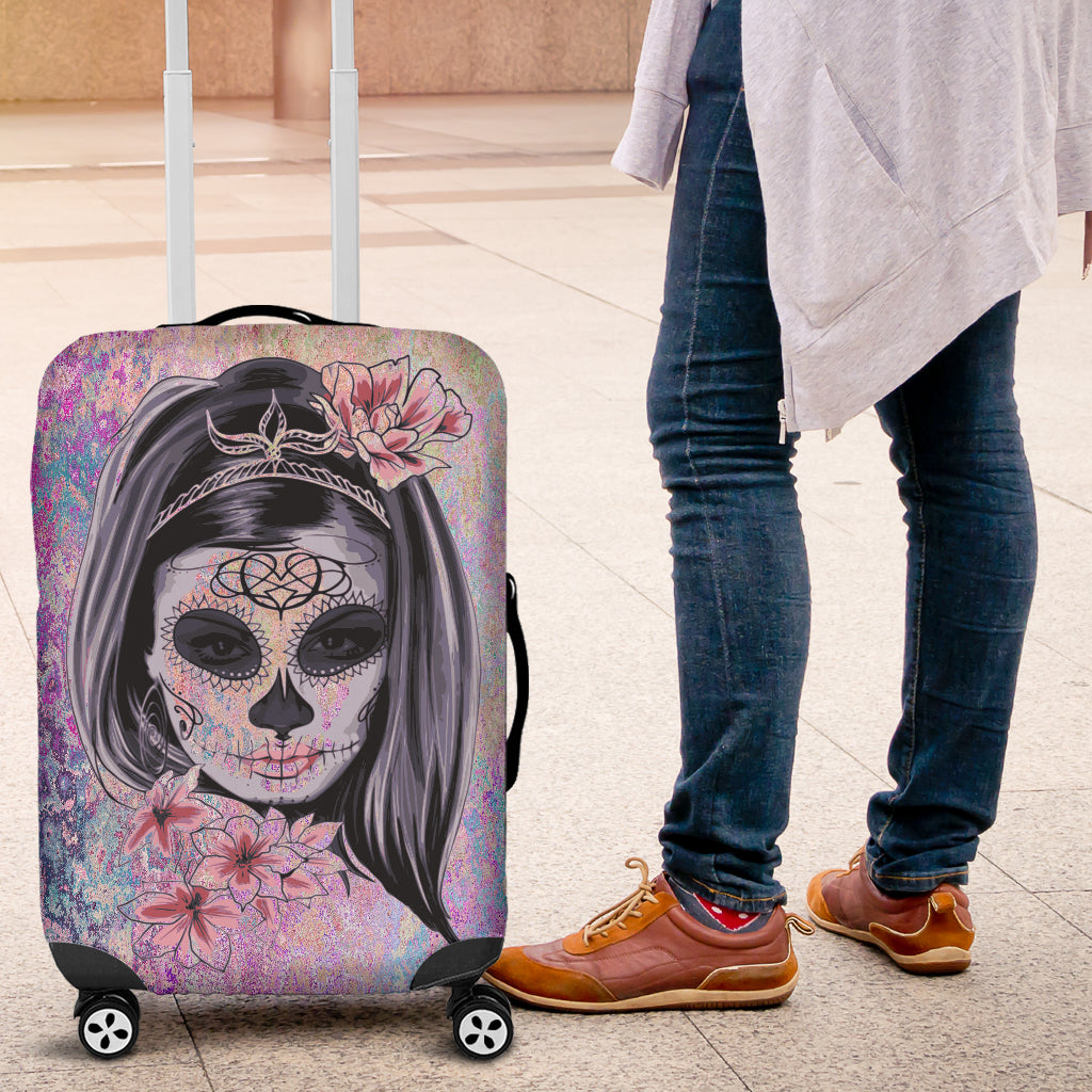 Calavera Girl Luggage Cover