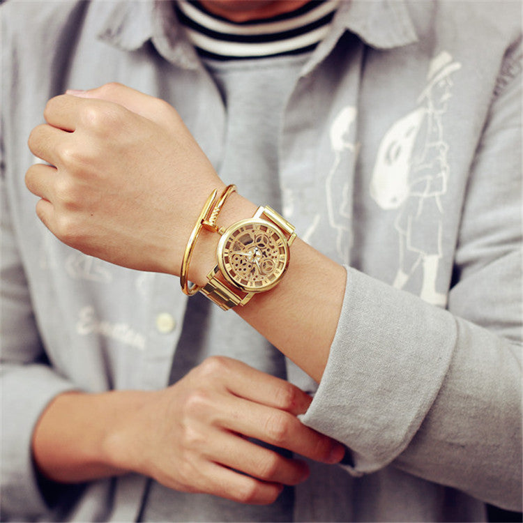 New Fashion Gold Color casual Luxury Hot Selling Ladies Watch