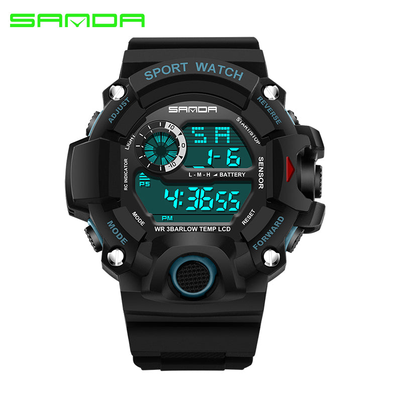 2018 Digital Diving Sport LED Waterproof Geneva Military Watches-Offer