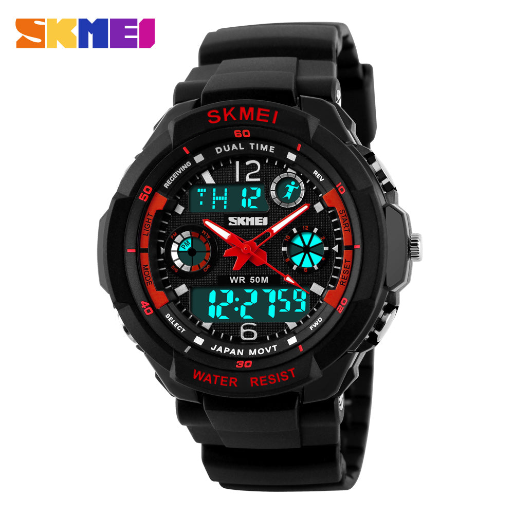 LED Digital Quartz Shock-Resistant Waterproof Sports Military Watches-Offer