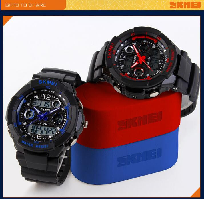 LED Digital Quartz Shock-Resistant Waterproof Sports Military Watches!