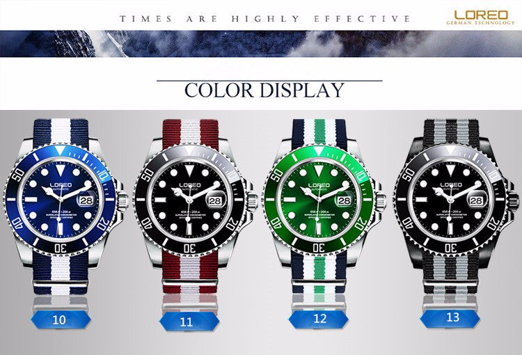 Sapphire Automatic Mechanical Chronograph Waterproof Luminous Watch