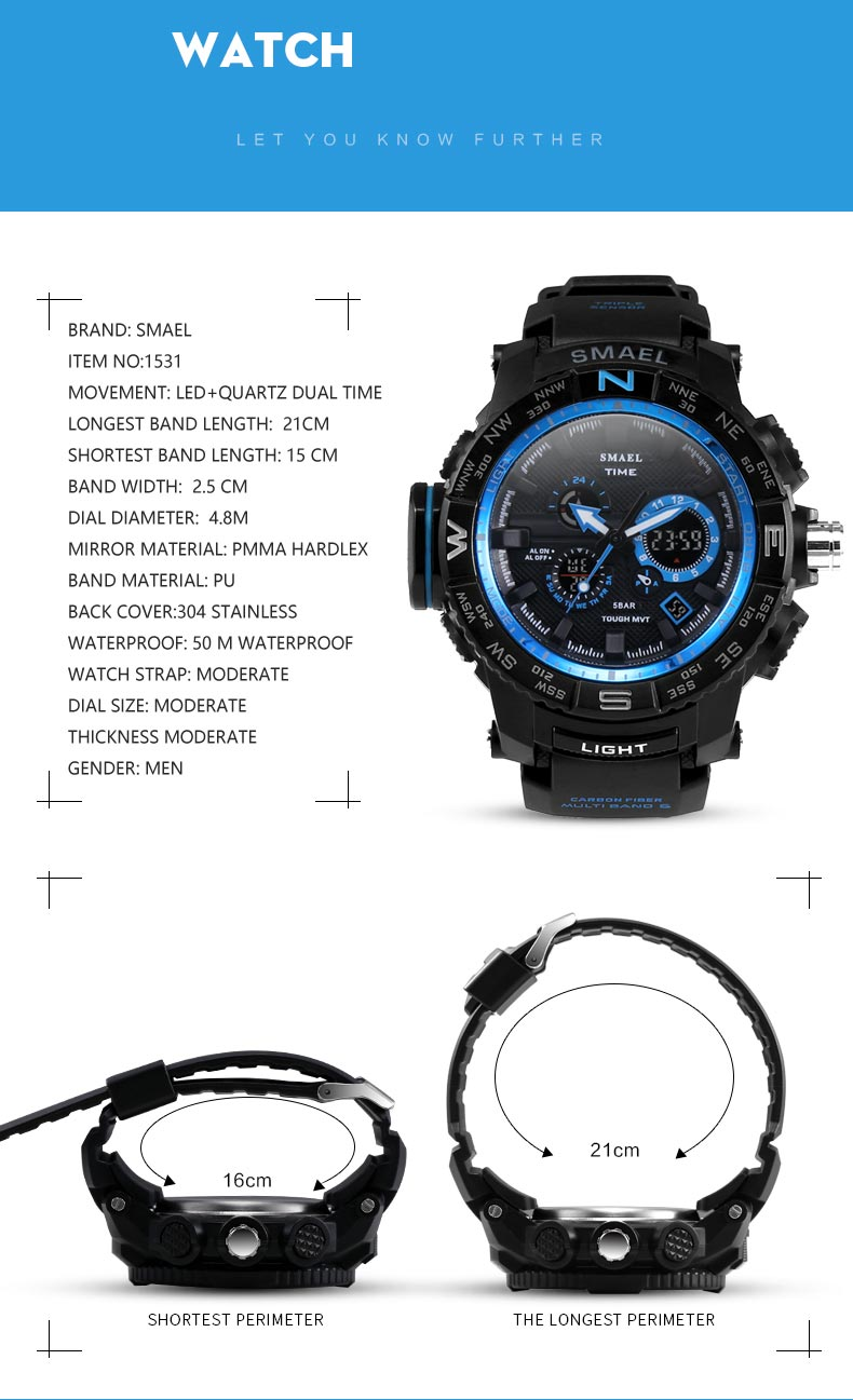 Top Brand Sports Dual Time SHOCK Watch-Giveaway