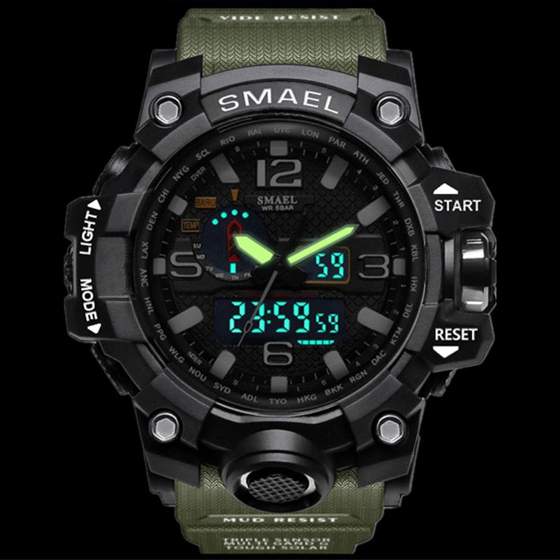 Big Dial Digital Military Army Water Resistant Date Calendar LED Watches!