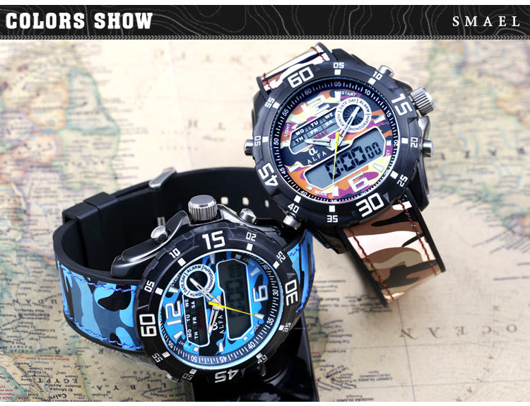HOT Sports Army Camouflage Waterproof Wristwatch-Giveaway