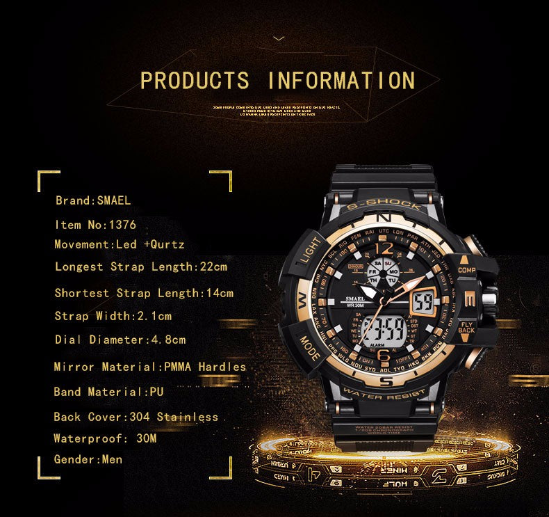 Top Brand Big Dial Luxury Military Waterproof Sports Watches-11 Colors