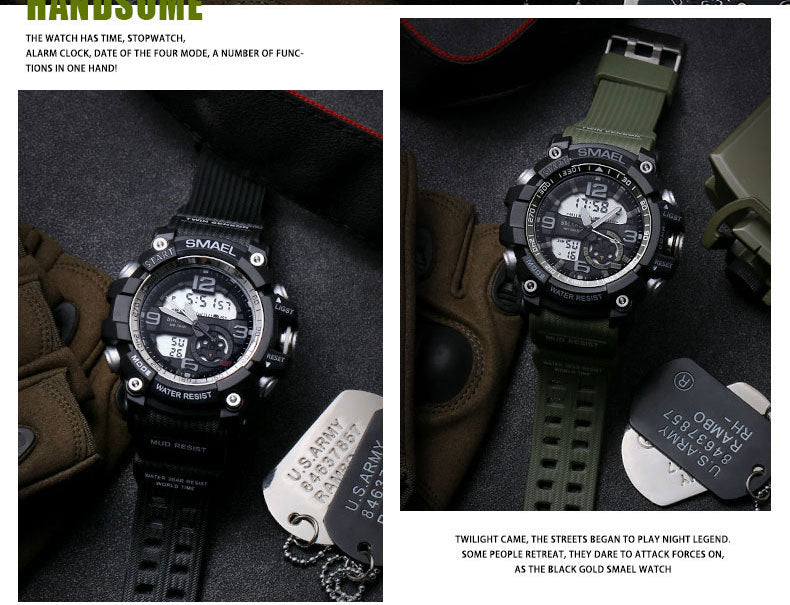 Outdoor BIG Dial LED Digital Waterproof Sports Military Watch-Offer