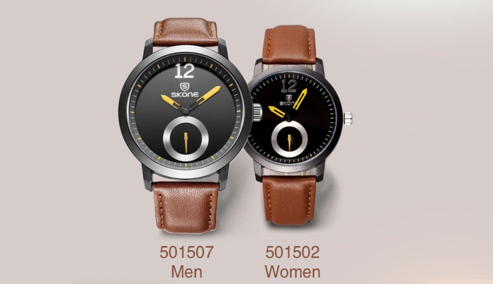 Genuine 30m Waterproof Leather Women & Men's Business Casual  Quartz Watches!