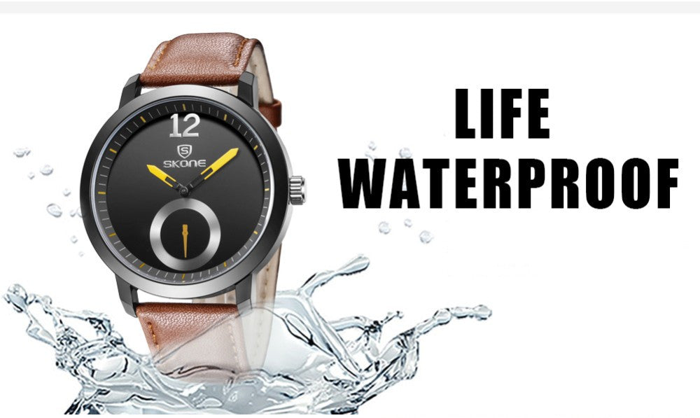 Genuine 30m Waterproof Leather Women & Men's Business Casual  Quartz Watches-Offer!