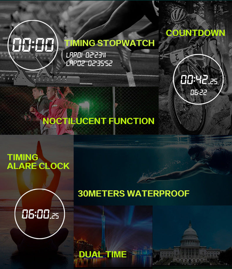 Compass Alarm Waterproof Chronograph Shock watches-Offer