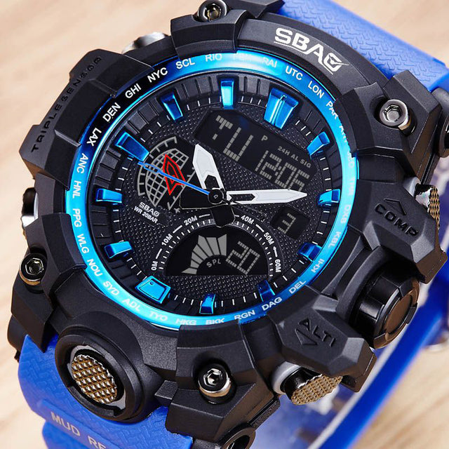 Super Cool LED Quartz Digital Military Waterproof Wristwatches-Offer