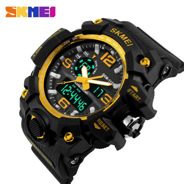 S Shock Big Dial Military Waterproof Sports Wristwatches!