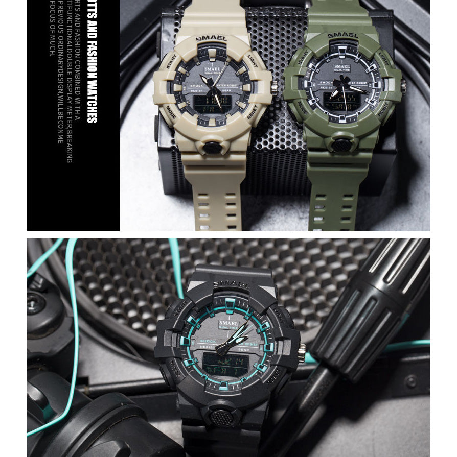 Sports Military LED Digital Waterproof Quartz Wristwatches