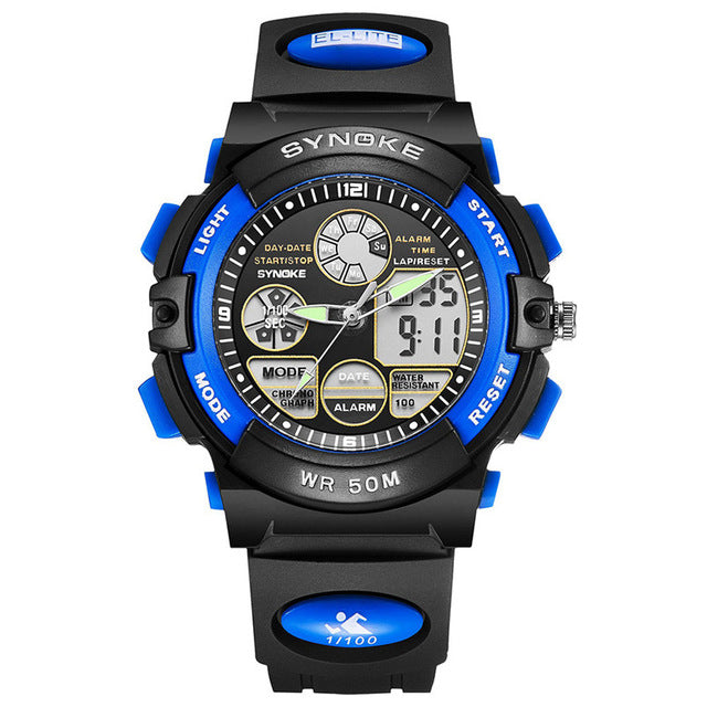 50M Waterproof Back Light LED Digital Watch-Offer