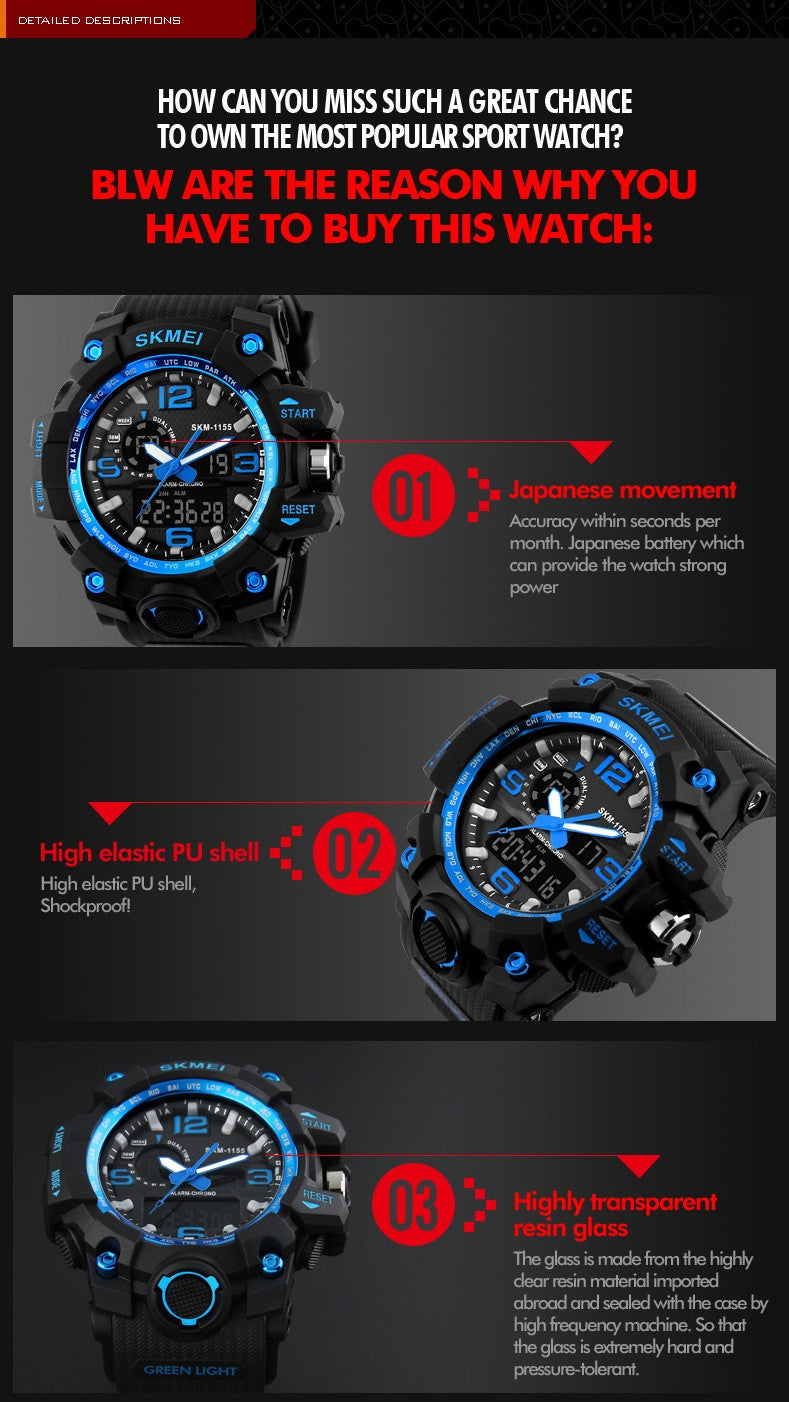 S Shock Big Dial Military Waterproof Sports Wristwatches Giveaway!