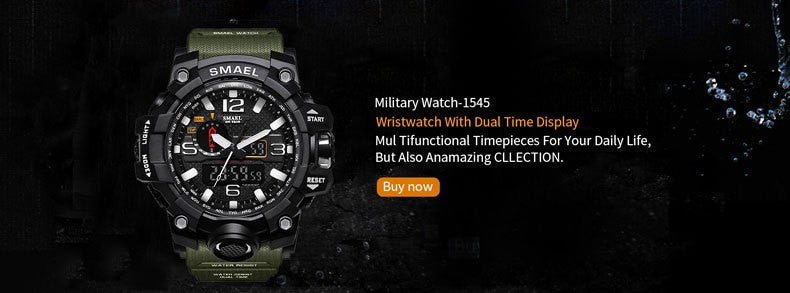 Military Sports Alarm LED Back Light Wristwatches-Giveaway