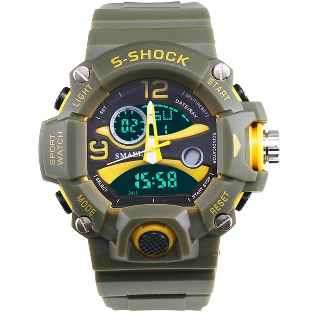 Hot Clock Military Silicone Sport Wristwatches-Giveaway