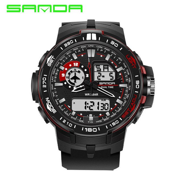 Dual Display Electronic 30M Waterproof Swimming Military Watch!