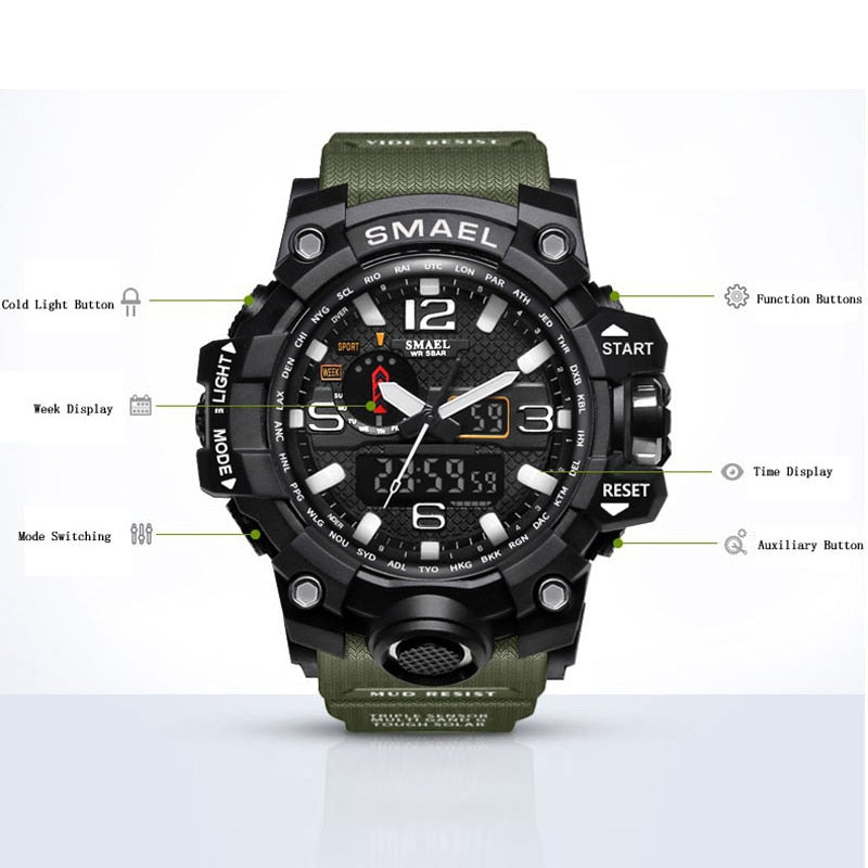2019 New Military 50m Waterproof S Shock Wristwatch Giveaway!