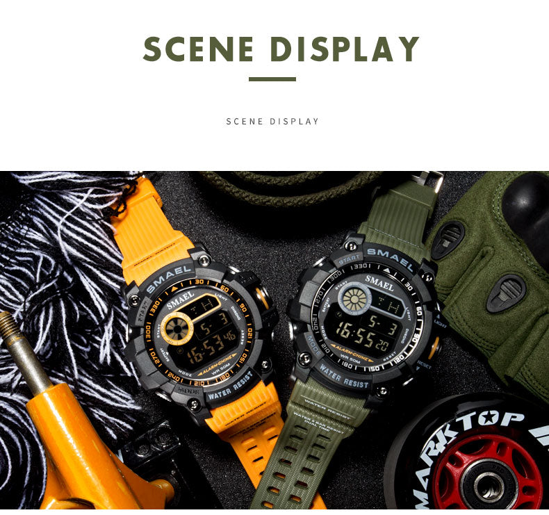 2019 New Military 50m Waterproof S Shock Wristwatch!