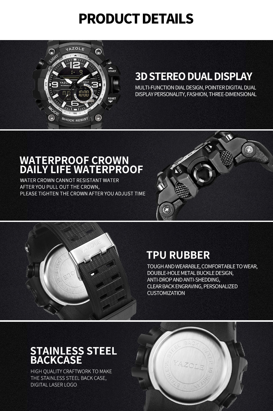 2019 Top Luxury Brand Multifunction Shock Digital Military Watches