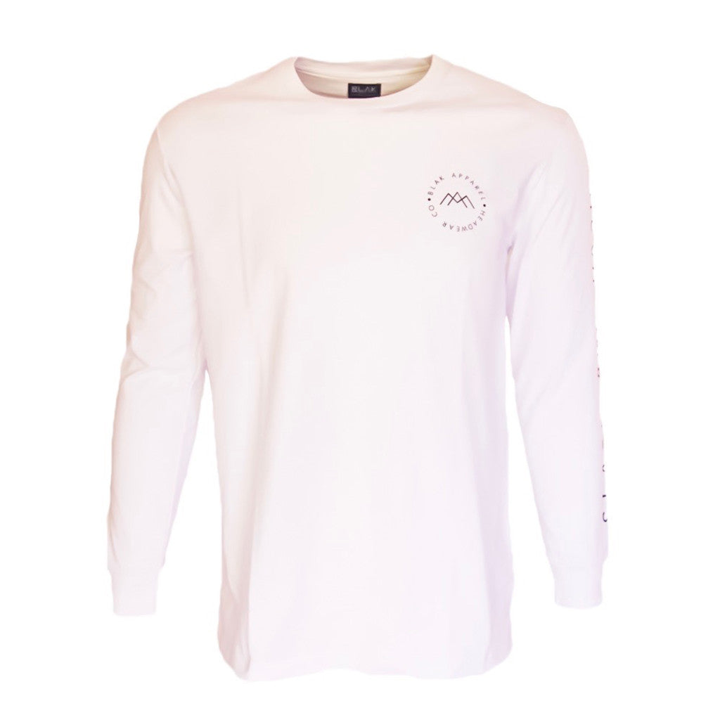 Slash & Dash Long sleeve T-Shirt - White
