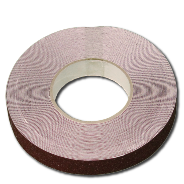 25 mm x 18.3 meter, brun anti slip tape fra Real Safety i DK