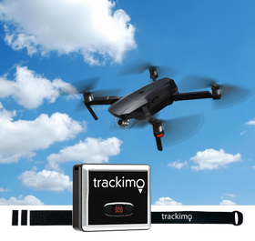 Trackimo Drone GPS Tracker with Drone attachment kit