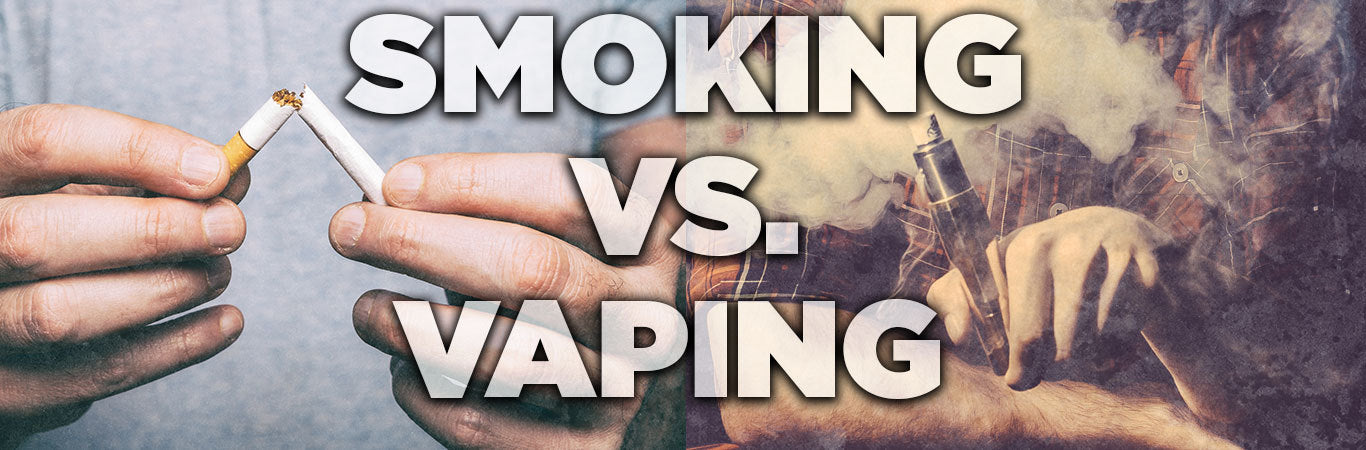Smoking Vs Vaping Banner