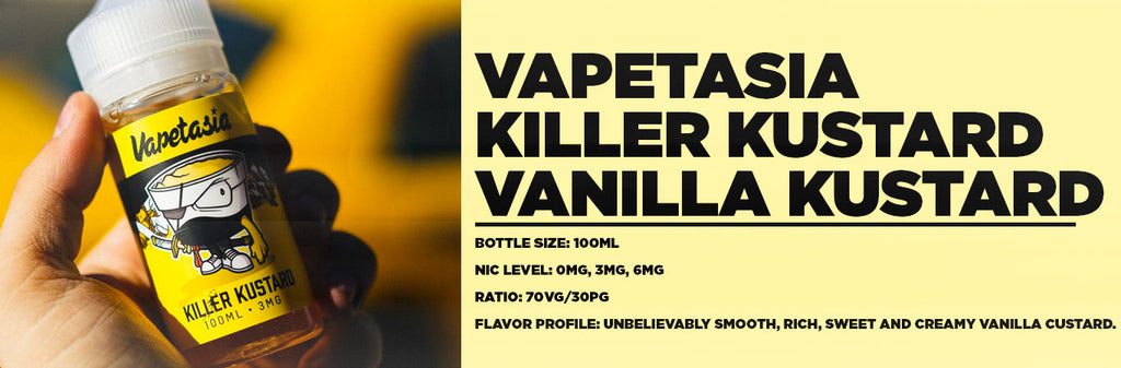 Vapetasia Killer Kustard Flavor Profile Banner at E-Juice Plug