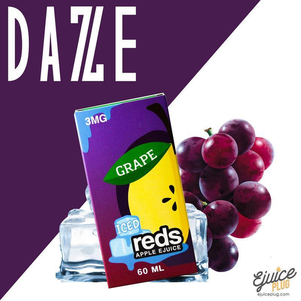 Grape Iced Red's Apple E-Juice by 7 Daze 60mL