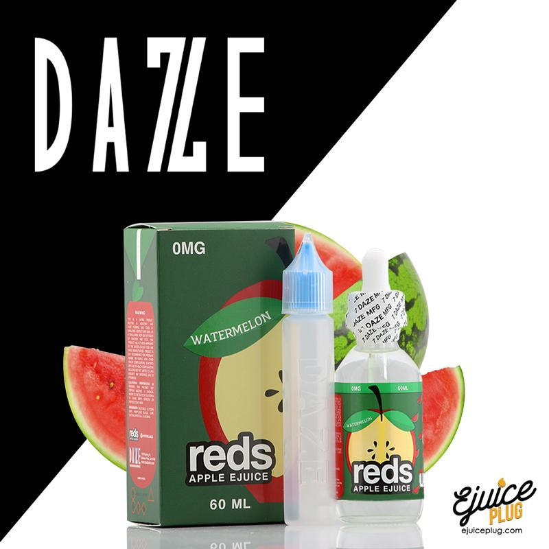 Watermelon Red's Apple E-Juice by 7 Daze 60mL