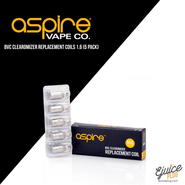 Aspire,- Aspire BCV Clearomizer Replacement Coils (5 Pack) - E-Juice Plug