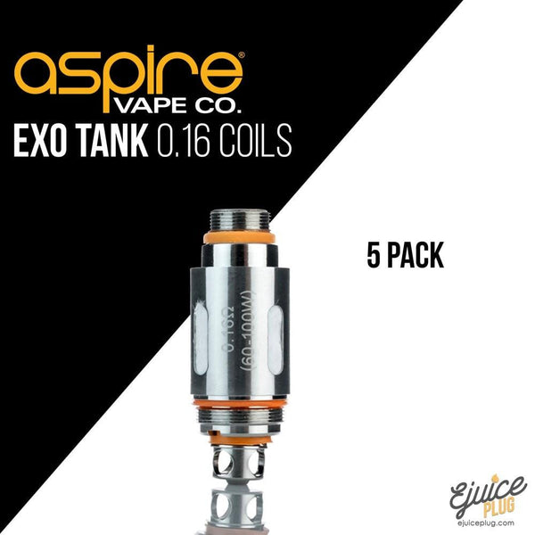 Aspire,- Aspire Cleito EXO Sub-Ohm TC Tank Replacement Coils ( 0.16 Ohms 5 Pack) - E-Juice Plug