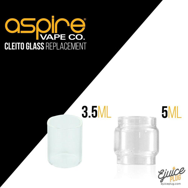 Aspire,- Aspire Cleito Replacement 3.5ml and 5ml Glass - E-Juice Plug