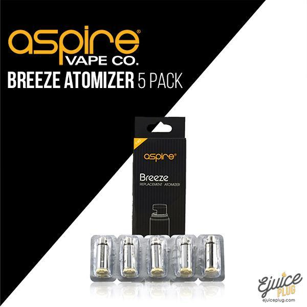 Aspire,- Aspire Breeze Replacement Coils (5 Pack) - E-Juice Plug