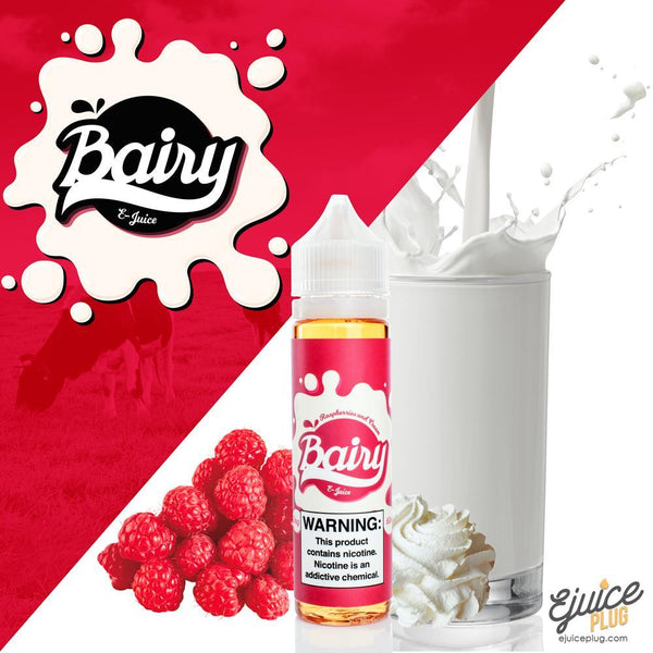 Bairy,- Bairy Raspberries and Cream 60ML - E-Juice Plug