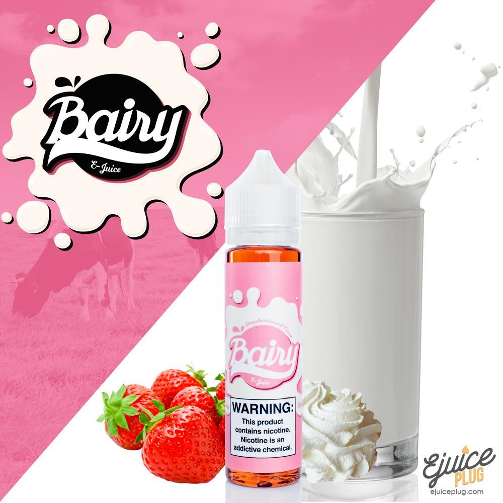 Bairy,- Bairy Strawberries and Cream 60ML - E-Juice Plug