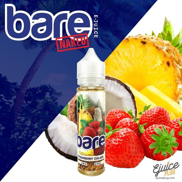 Bare Naked,- Bare Naked - Strawberry Colada - E-Juice Plug