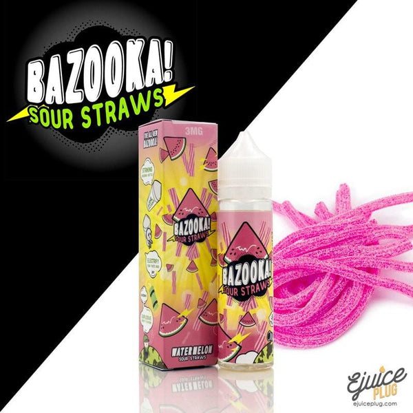 Bazooka Sour Straws,- Bazooka Watermelon Sour Straws Ejuice 60ml - E-Juice Plug