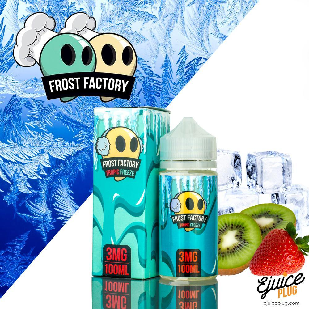 Frost Factory,- Frost Factory E-Liquid Tropical Freeze-100ml - E-Juice Plug